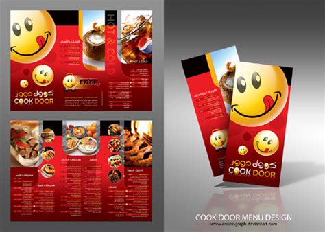 menu card design  restaurant