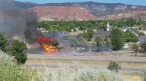 Brush fire ignites power pole, lines in Cedar City | KMYU