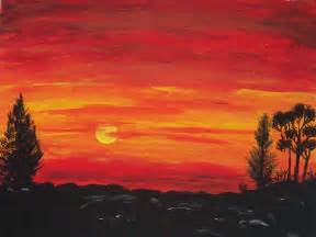 Simple Sunset Painting