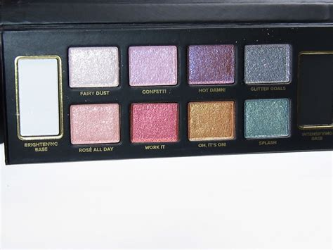 faced glitter bomb eyeshadow palette review swatches