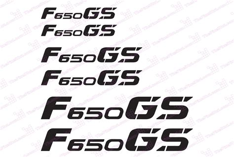 Bmw Gs Motorcycle Reflective Decal Kit For F650 Gs