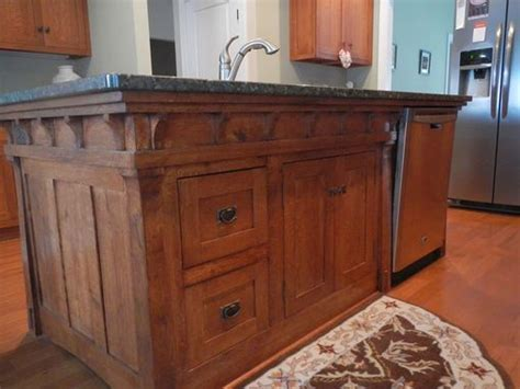 Handmade Arts And Crafts Style Kitchen Island by PAUL'S