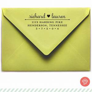 samantha return address stamp wooden handle or self With return address wedding invitations living together