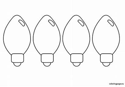 Pages Coloring Christmas Lights Clipart Tree Bulb