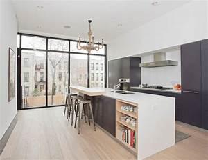 cuisine avec ilot central modernes deco maison moderne With plan de cuisine avec ilot central