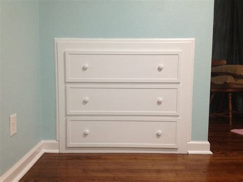 how to build dresser into wall plans diy free how