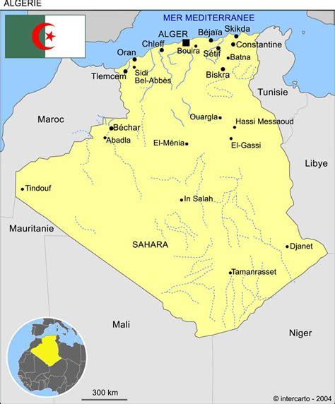 Carte Geographique Villes Algerie carte g 233 ographique et touristique de l alg 233 rie alger
