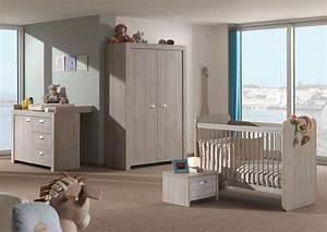 chambre bebe complete contemporaine chene clair margaux With chambre de bebe complete a petit prix