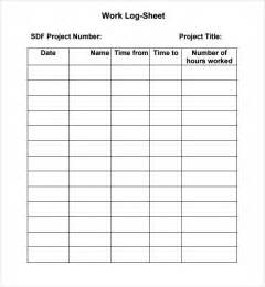 Log Sheet Template Excel 5 Log Sheet Templates Formats Exles In Word Excel