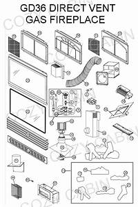 Gas Fireplace Parts Diagram