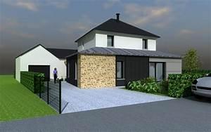 nos creations de maisons en ille et vilaine cotes d39armor With maison bois toit plat 2 architecture loire atlantique construction de maison