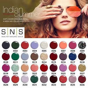 Anc Nails Color Chart Sns Gelous Dipping Powder Indian Summer Collection Full