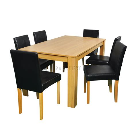 sur la table westwood westwood wooden dining table and 4 or 6 pu faux leather
