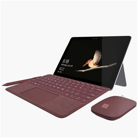 surface pro keyboard colors microsoft surface go with keyboard all colors 3d