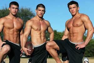 shirtless male muscle jocks football sports hunks shorts