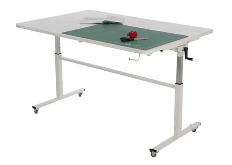 portable folding table height adjustable sewing and cutting table