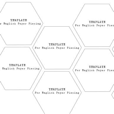 Hexagons 1 3/4 Inch Templates