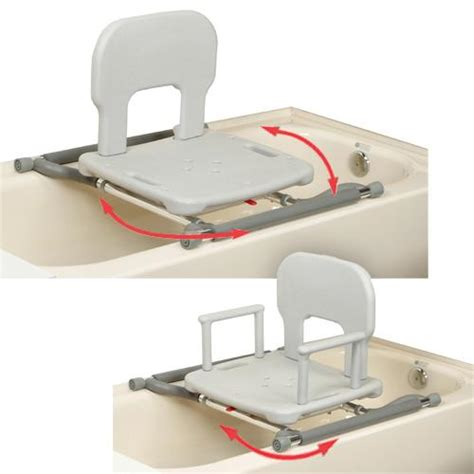 Bathtub Transfer Bench Swivel Seat by Eagle Health Tub Mounted Swivel Bath Shower Transfer Bench