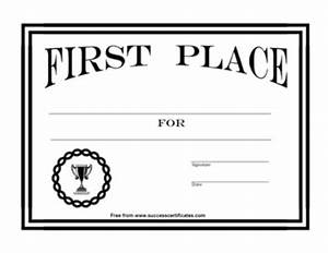 certificate for 1st place award 7 certificate templates With 1st place certificate template free