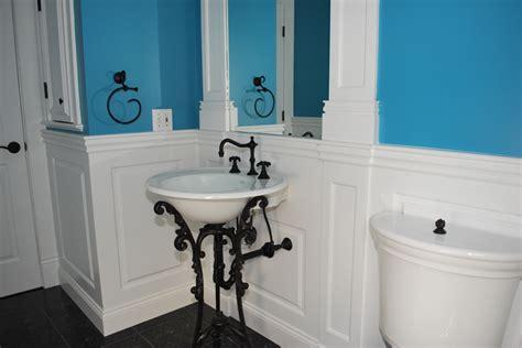 panelled bathroom ideas custom wainscoting bathroom picture ideas