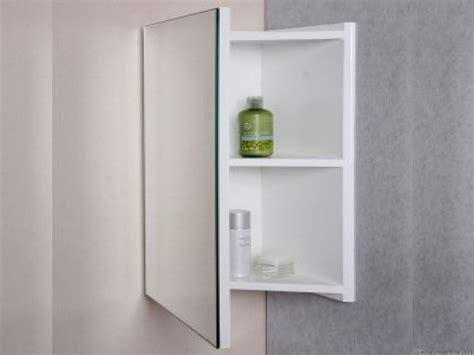 Corner Medicine Cabinet Solution To Limited Space