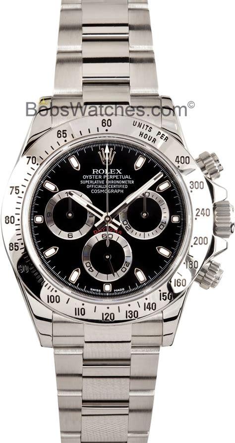 Mens Black Rolex Daytona 116520 - Save At Bob's Watches