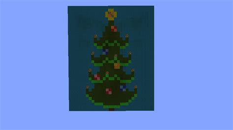 christmas tree pixel art minecraft project