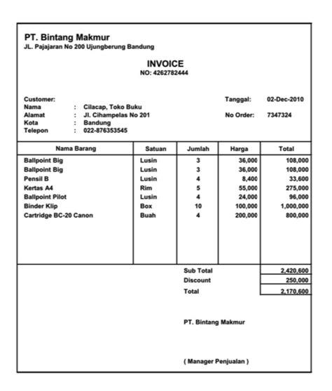 Contoh Invoice Penagihan by 7 Contoh Invoice Untuk Berbagai Keperluan Penagihan