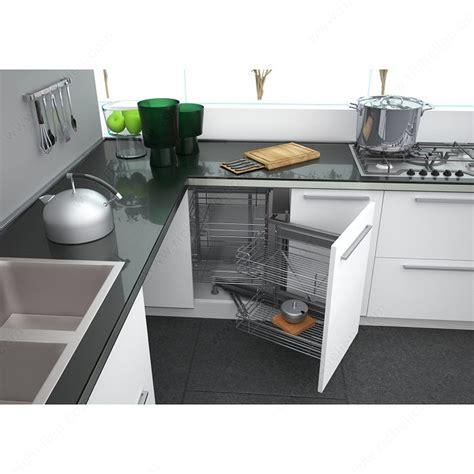 armoire en coin cuisine cadre smart corner iii ouverture à droite quincaillerie