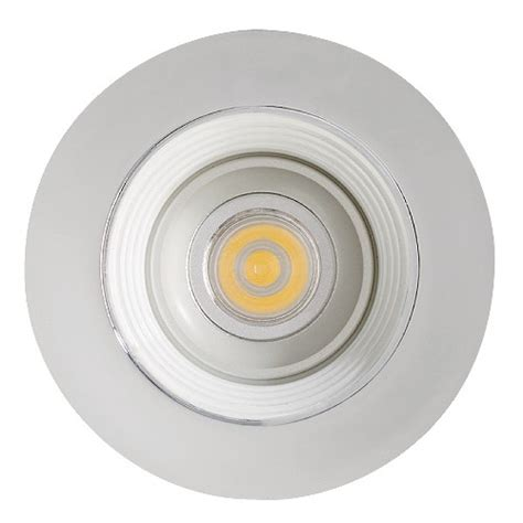 led cabinet recessed white baffle chrome trim 12