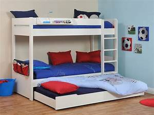 Buy Stompa, Classic Kids, White Bunk Bed With Trundle Bed ...