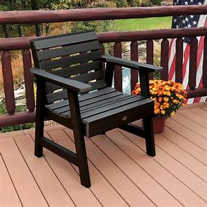 Highwood, Weatherly, Commercial, Grade, Synthetic, Wood, Garden, Chair, -, Outdoor, Living