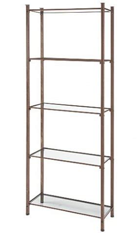 Glass Shelf Etagere by Metal And Glass Etagere Foter