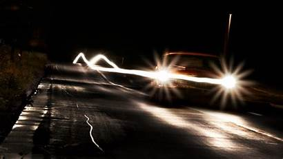 Night Effect Wallpapers Lights Cars Headlight Headlights