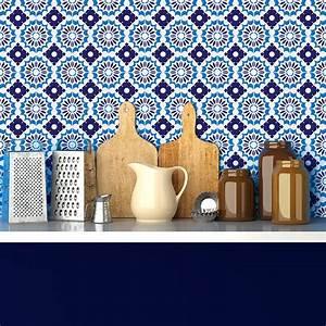 Stickers Carreaux De Ciment Cuisine : 24 stickers carreaux de ciment azulejos palermo cuisine ~ Melissatoandfro.com Idées de Décoration