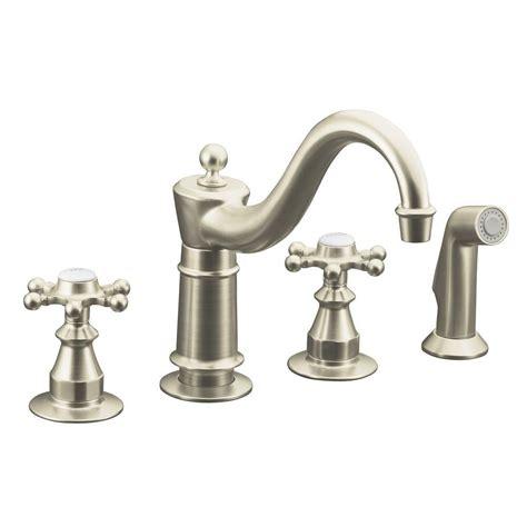 kitchen faucet brushed nickel kohler essex single 2 handle standard kitchen faucet