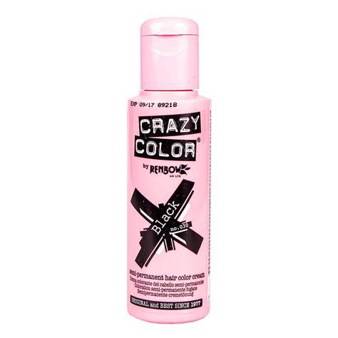 Crazy Color Black Semi Permanent Hair Dye 100ml