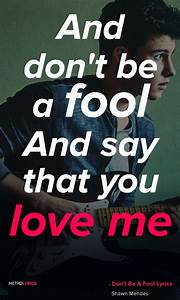 Shawn Mendes - ... Knife Song Quotes