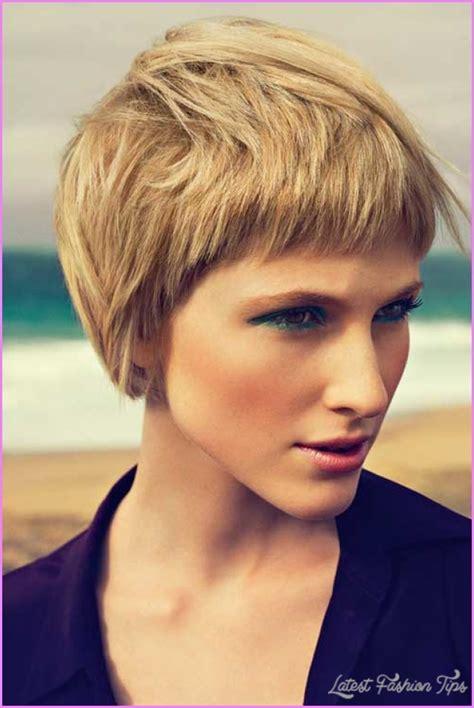 short haircuts  women  thick hair