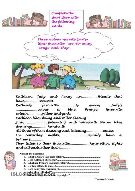 complete  short story writing worksheets short