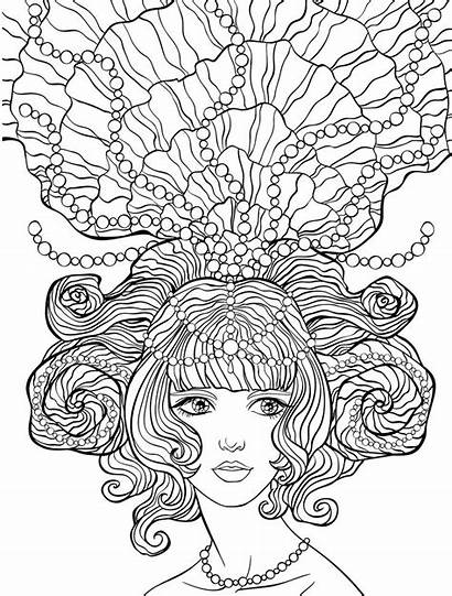 Coloring Crazy Pages Adult Hair Colouring Sheets
