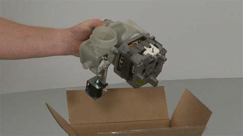 Dishwasher Pump Motor Assembly Wdx Youtube