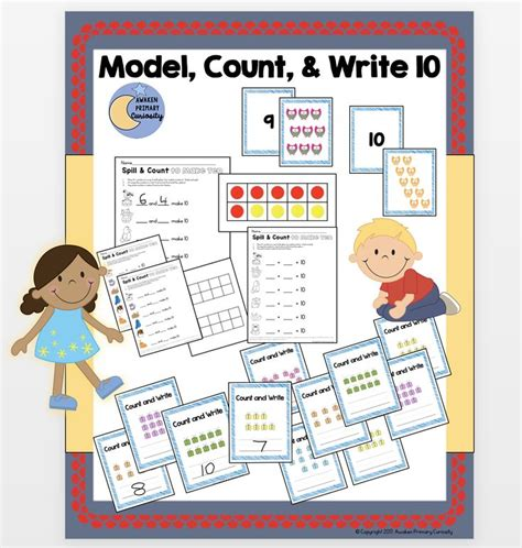 Just plain common sense printable math worksheets for practice, your print and practice. Model, Count, & Write 10 - GO MATH! Center Activities | Kindergarten centers activities, Math ...