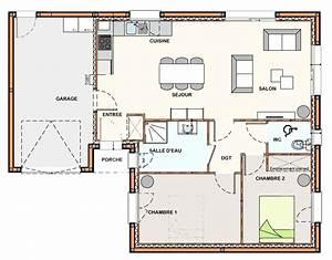 meilleur de plan maison 3 chambres ravizhcom With plan de maison 3 chambres salon