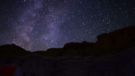 Milky Way Galaxy 94 Timelapse Mojave Desert Red Rock