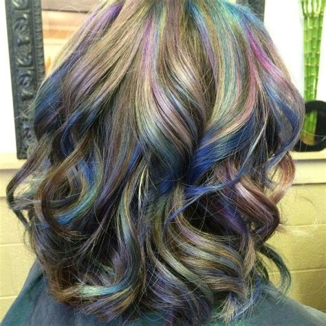 brunettes   colorful hair oil