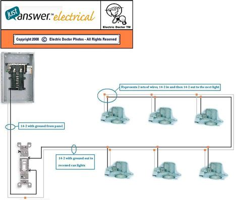 explain how to wire 6 recessed lights to one switch with