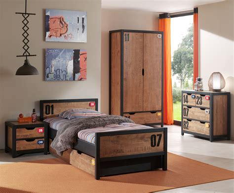 chambre do lit enfant style industriel alex