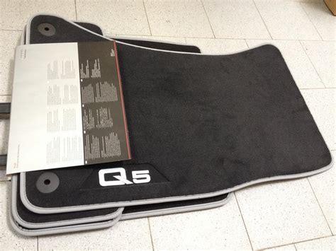 audi floor mats q5 premium textile floor mat audi q5 8r front and rear 8r1061270 mno ebay