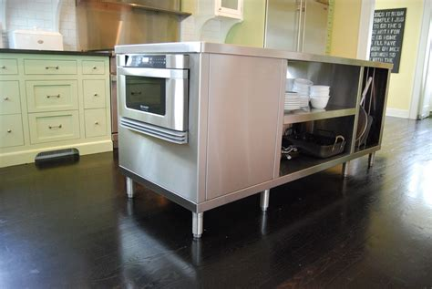 hand crafted stainless steel kitchen islands  custom